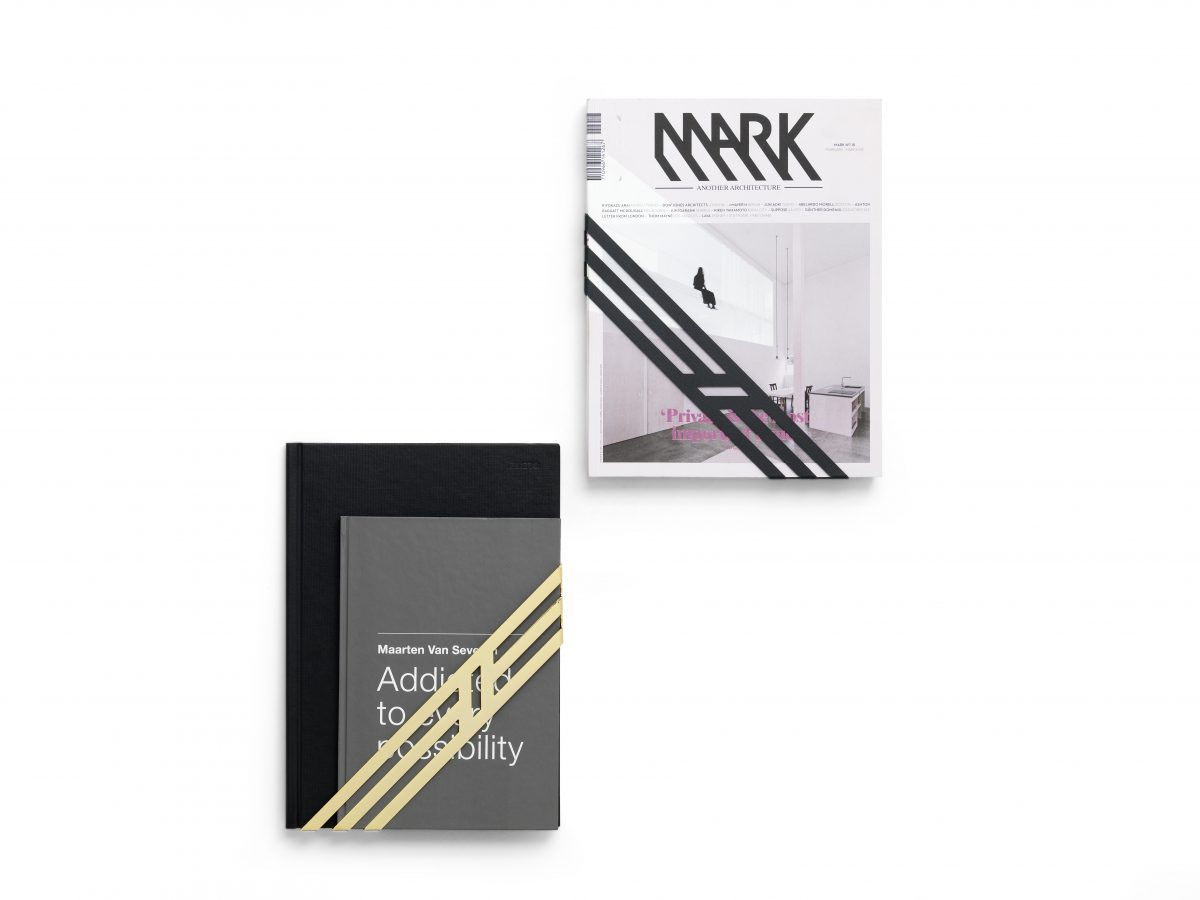 Frederik Roije Tijdschrifthouder Ribbon Goud Grijs Interieur Design Muuraccesoire