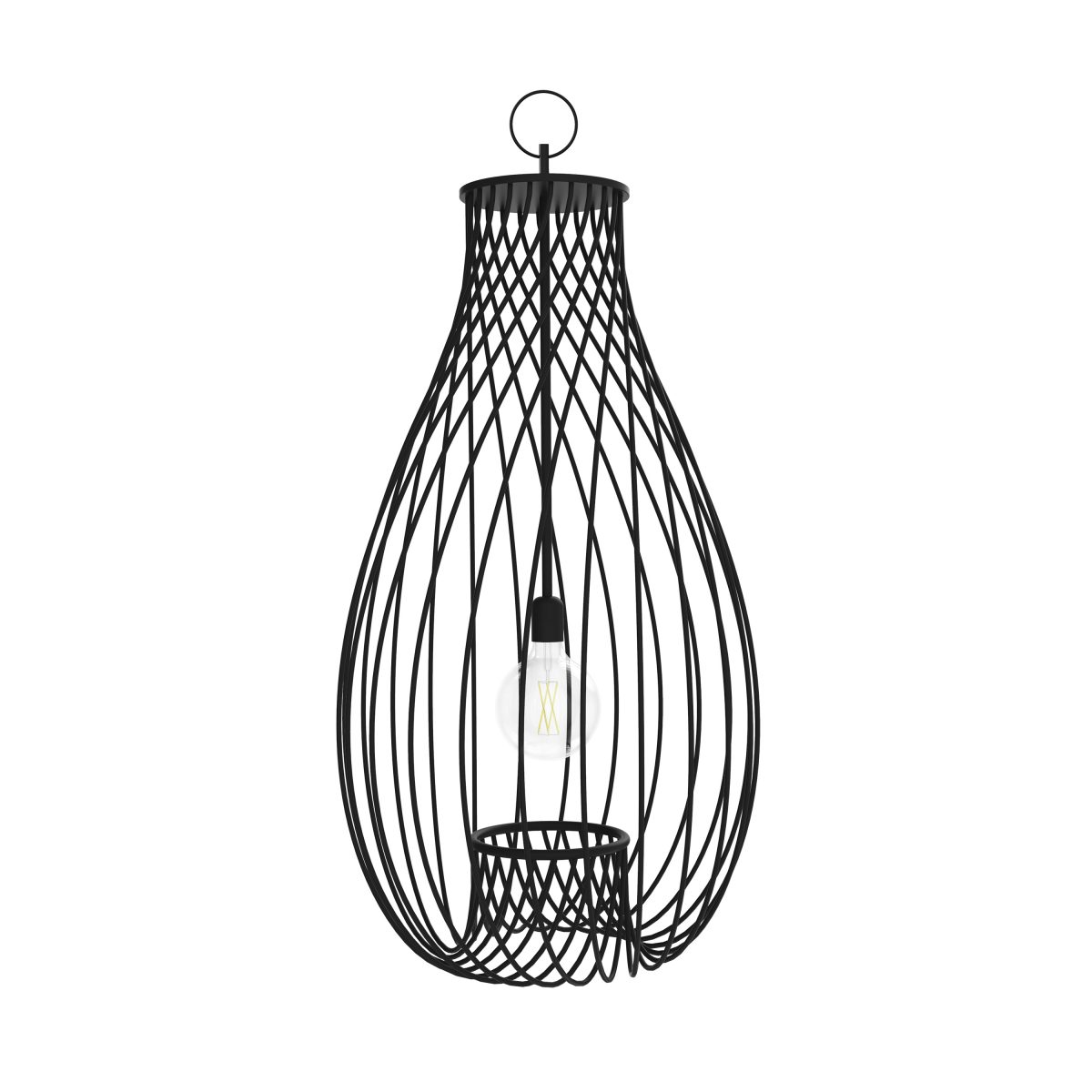 JSPR Pirouette II Chandelier Black High Res