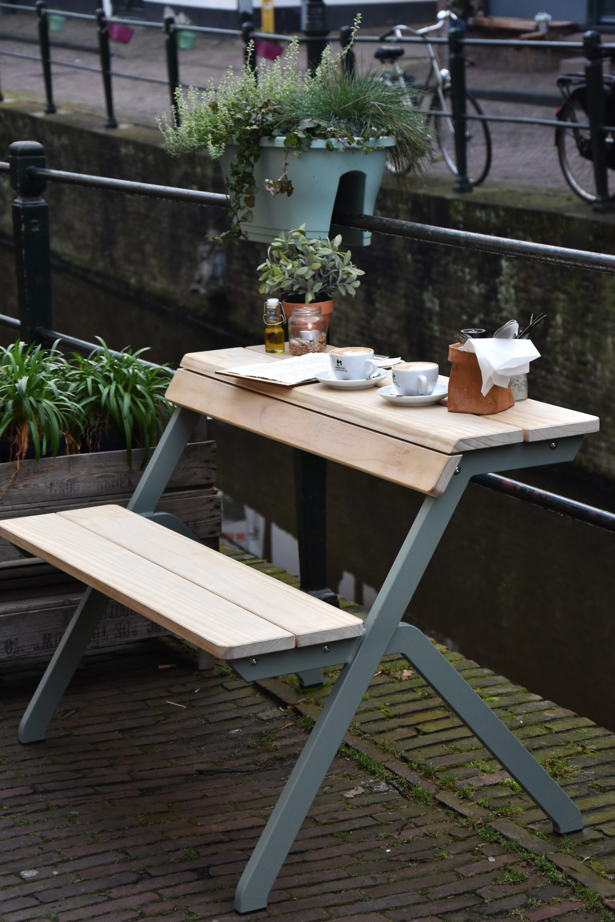 Weltevree Tablebench Exclusief Dutch Design Outdoor Tafel Bankje