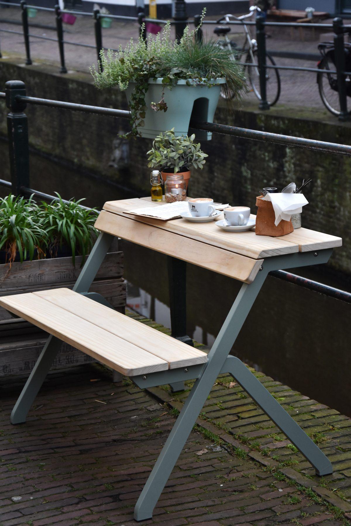 Weltevree Tablebench Exclusief Dutch Design Outdoor Tafel Bankje