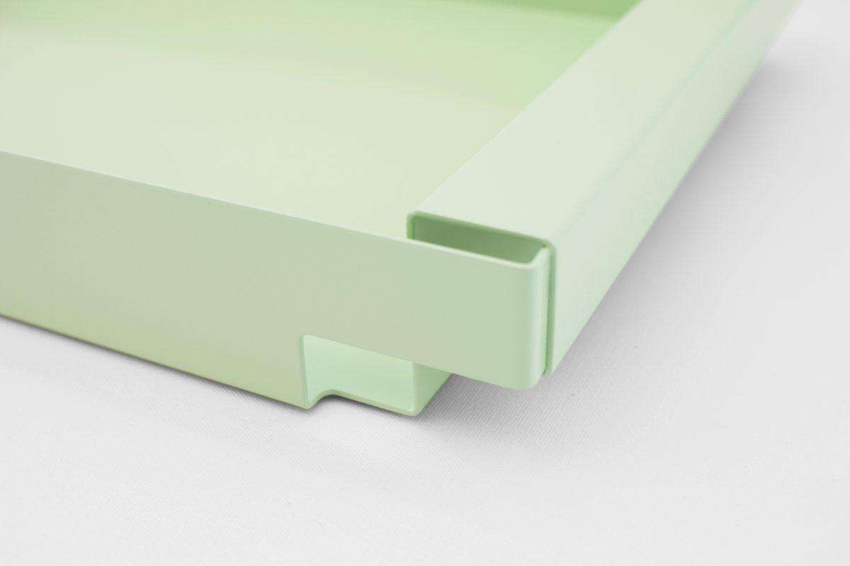 Dean Tray New Duivendrecht dienblad groen minimalistisch strak staal
