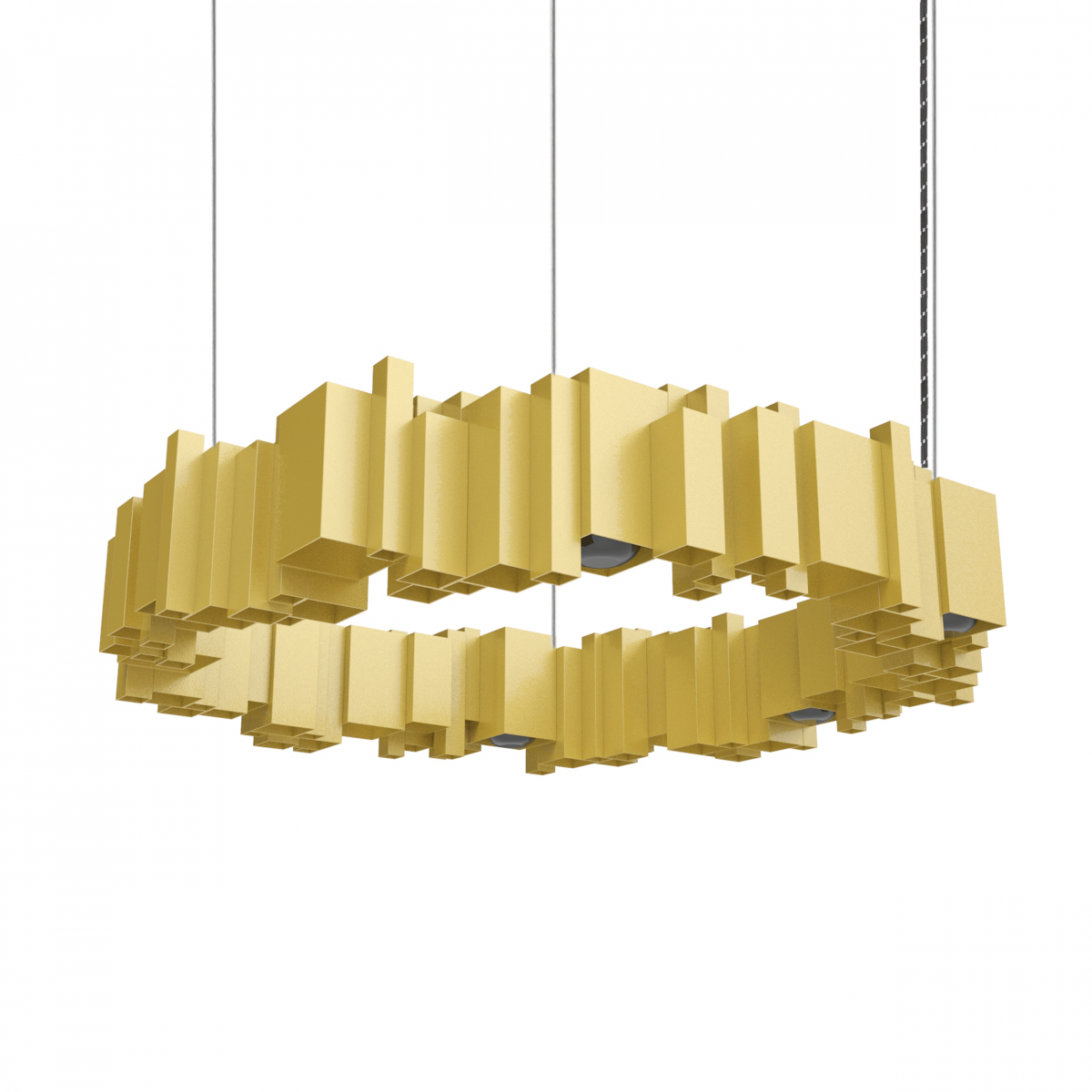JSPR Cityscapes Urban Dutch Design Lamp OFF Gold Goud