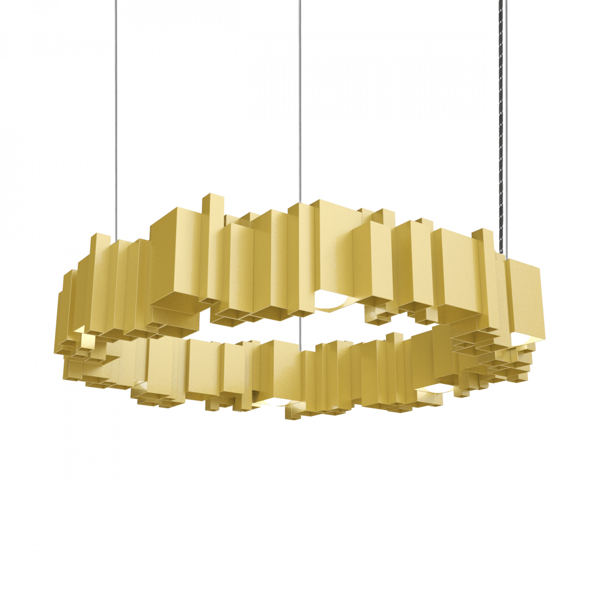 JSPR Cityscapes Urban ON Gold Highend Lamp Goud