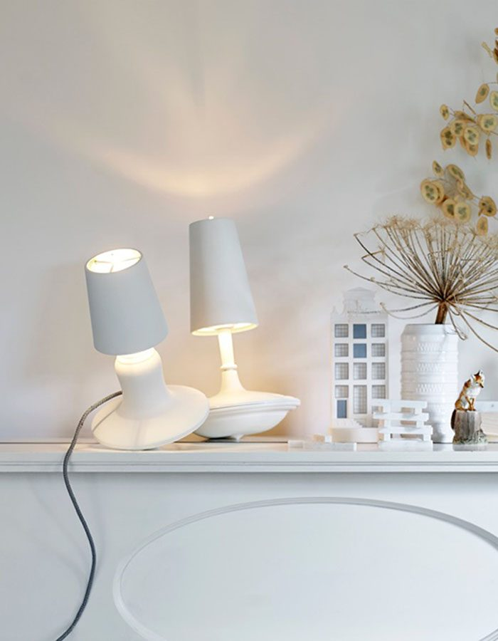 LABELBREED Cast Metal Lamp Wit Versie Laag Hoog Sfeer Tafellamp Setting Project