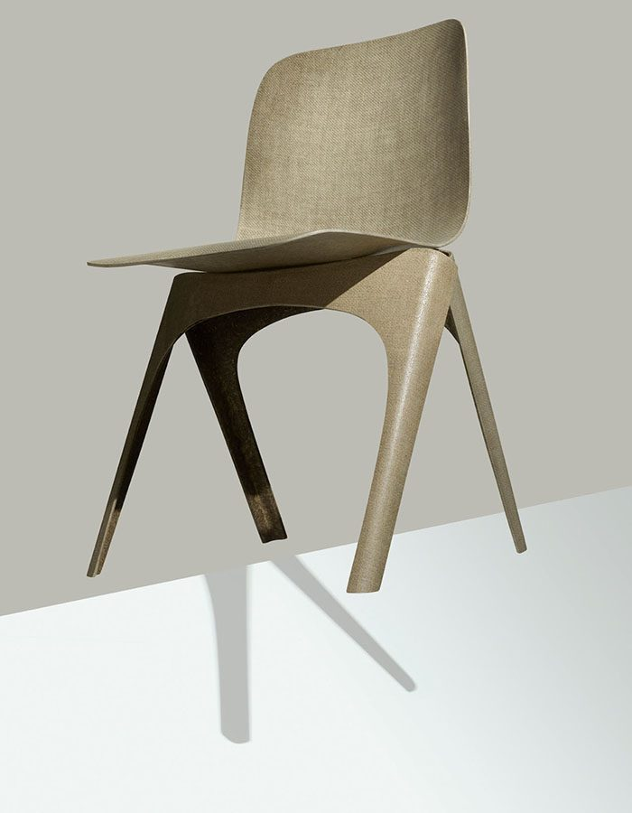 LABELBREED Flax Chair Christien Meindertsma Dutch Design Stoel Vlas