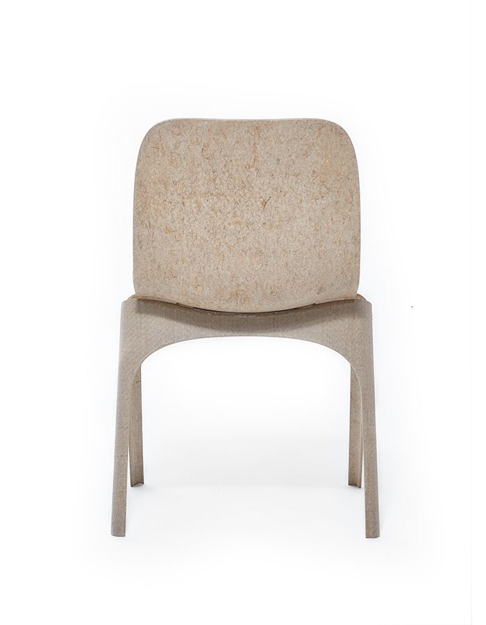 LABELBREED Flax Chair Back Achterkant Exclusieve Dutch Design Stoel Vlas Christien Meindertsma
