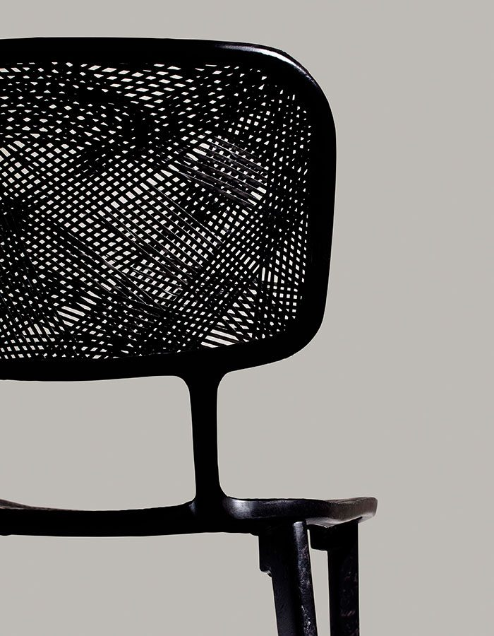 LABELBREED Recycled Carbon Chair Marleen Kaptein Exclusieve Dutch Design Stoel