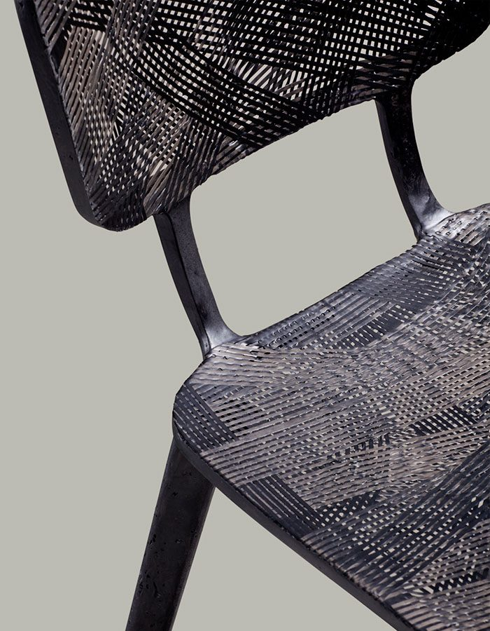 LABELBREED Recycled Carbon Chair Marleen Kaptein Luxe Dutch Design Stoel Project