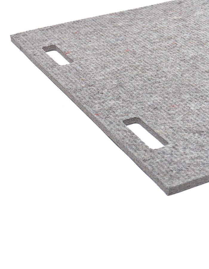 LABELBREED Tapijt Wand Vloer Akoestich Wool Grey Line Grijs Lijn Patroon Christien Meindertsma
