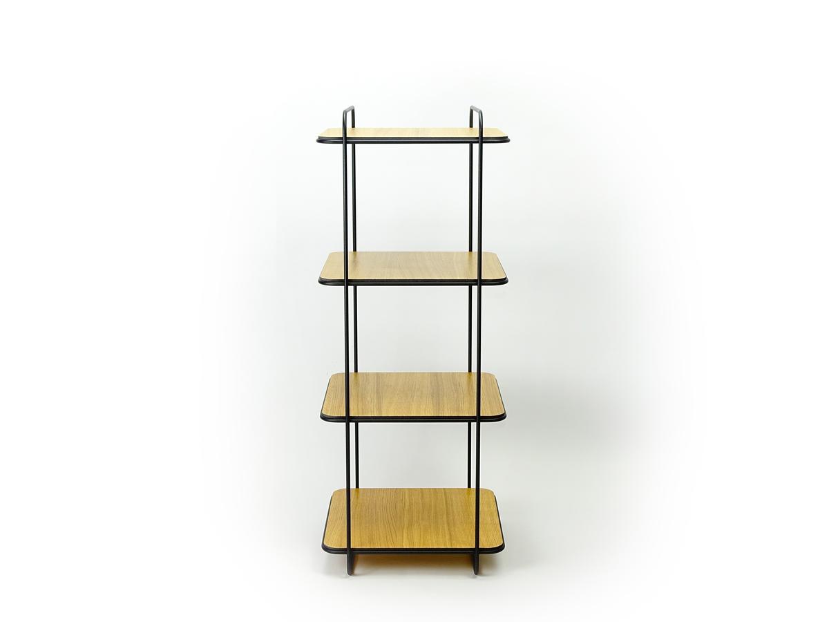 New Duivendrecht 8 Frame Cabinet Minimalisme 4 Planken Eiken Kast Metaal Project