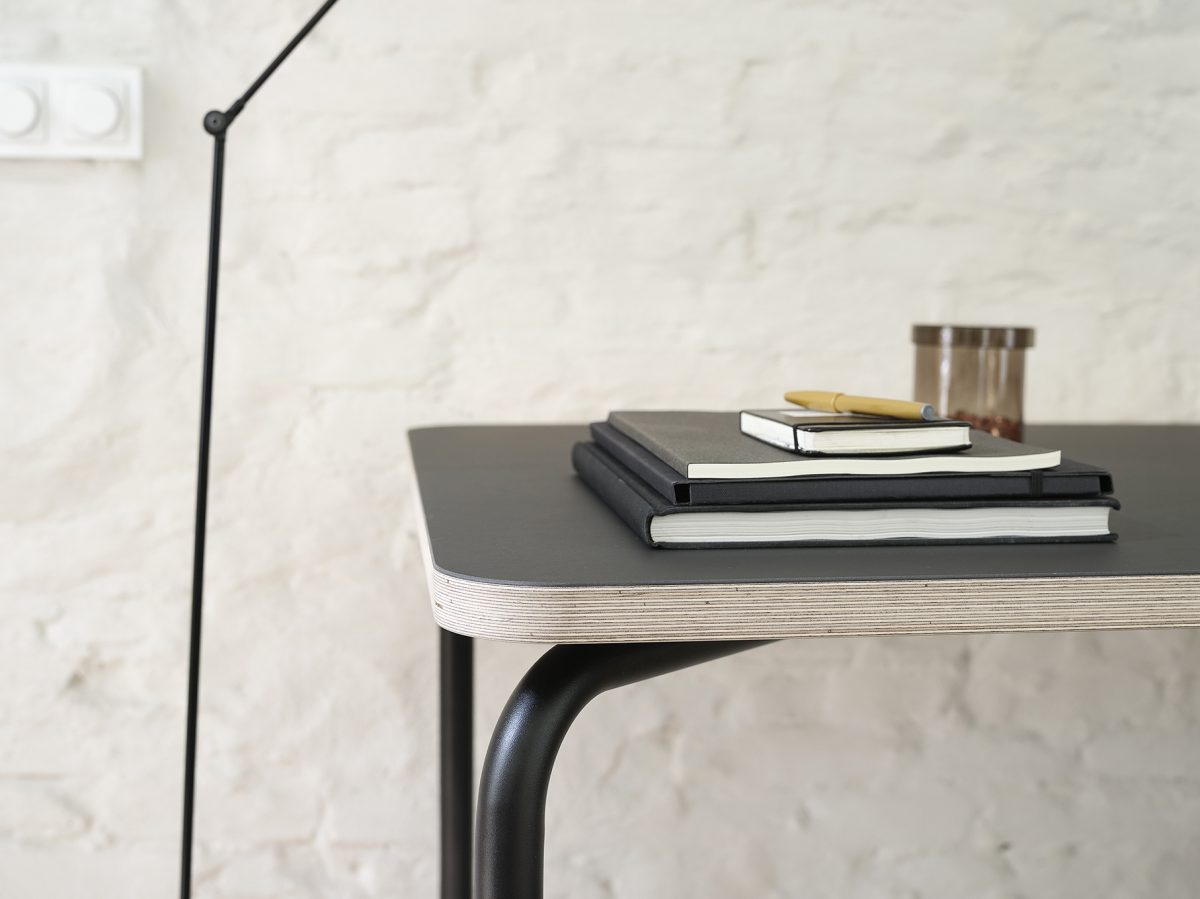Functionals KUMPEL Table Black Charcoal Detail Dutch Design Project