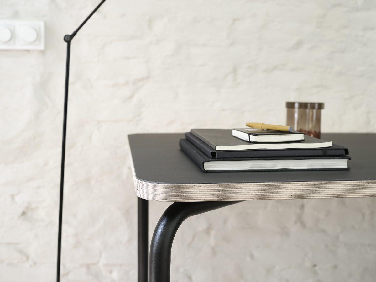 Functionals KUMPEL Table Black Charcoal Detail Dutch Design Project