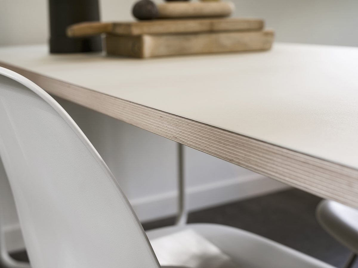 Functionals KUMPEL Tafel Wit Table White Mushroom Detail Tafelblad