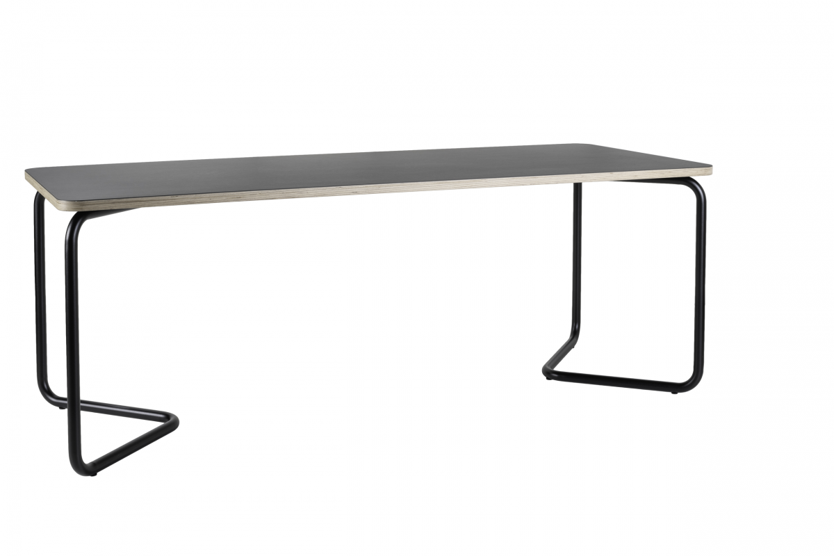 Functionals Kumpel Table Tafel 200×80 Zwart Charcoal Black Schragentafel