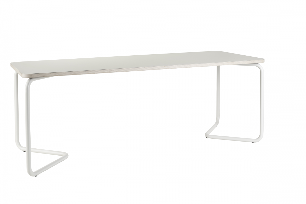 Functionals Kumpel Tafel Table 200×80 Wit Frame Gebroken Wit Tafelblad Mushroom White