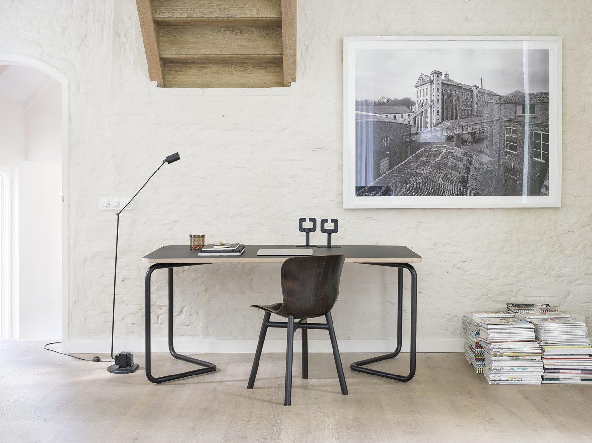 Funtionals KUMPEL Tafel Table Black Charcoal 160X80 Linoleum