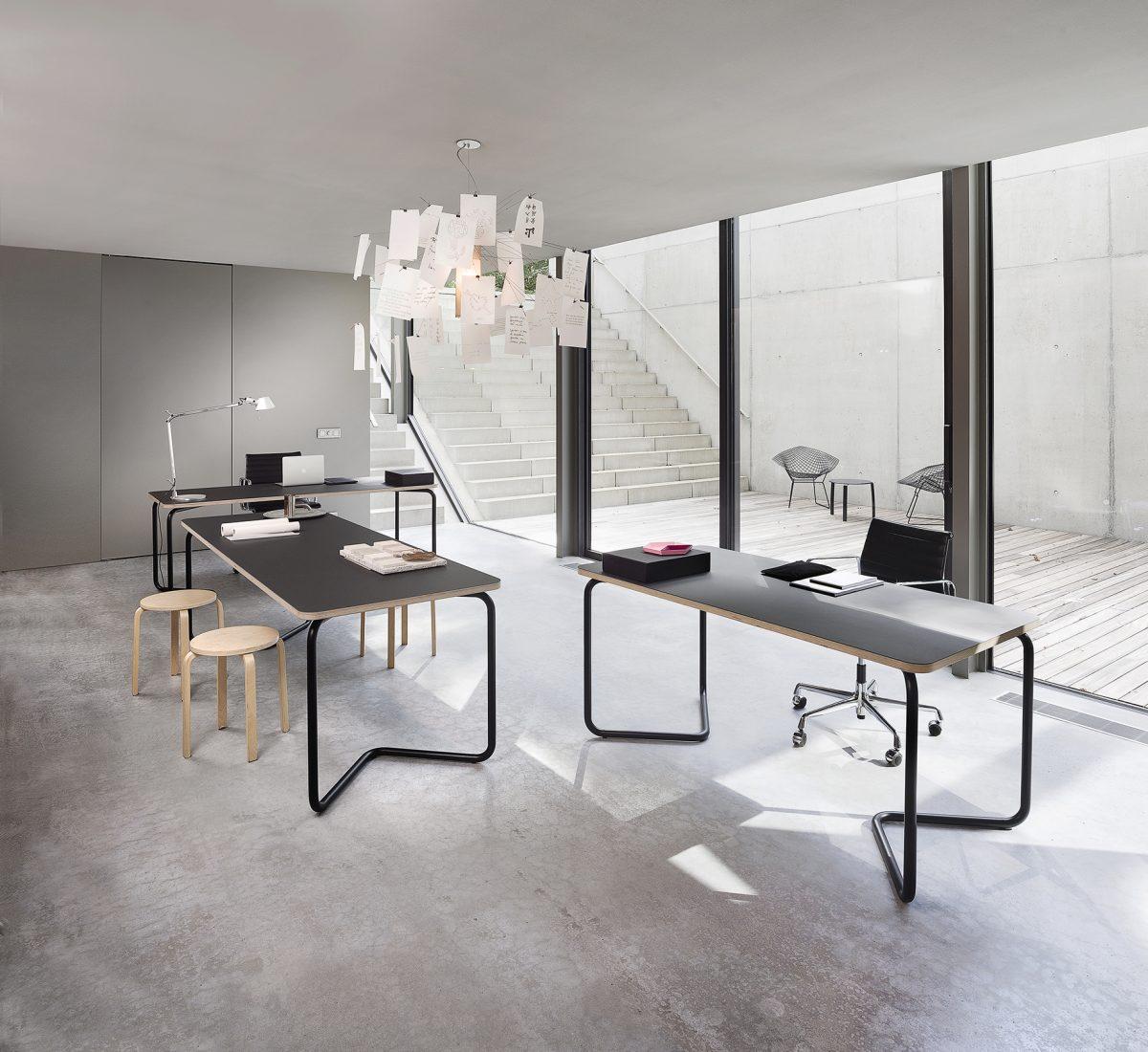 KUMPEL Table Black Charcoal 160 200 240X80 Functionals Dutch Design Tafel Schragen Project