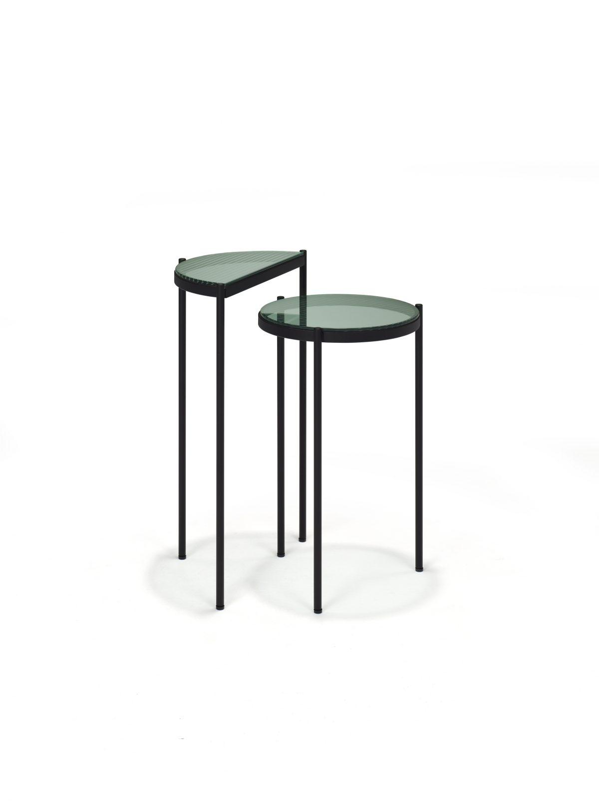 LYN Bijzettafel Set Visser Meijwaard Groen Glas Frame Zwart JOSHH& HELDERR44