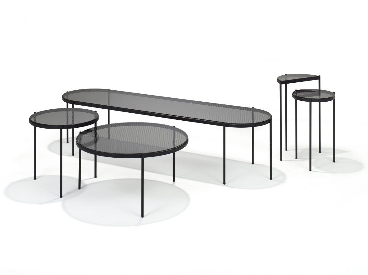 LYN Salontafel Ovaal Visser Mijwaard JOSHH& Helderr Glass Steel Coffeetable 35