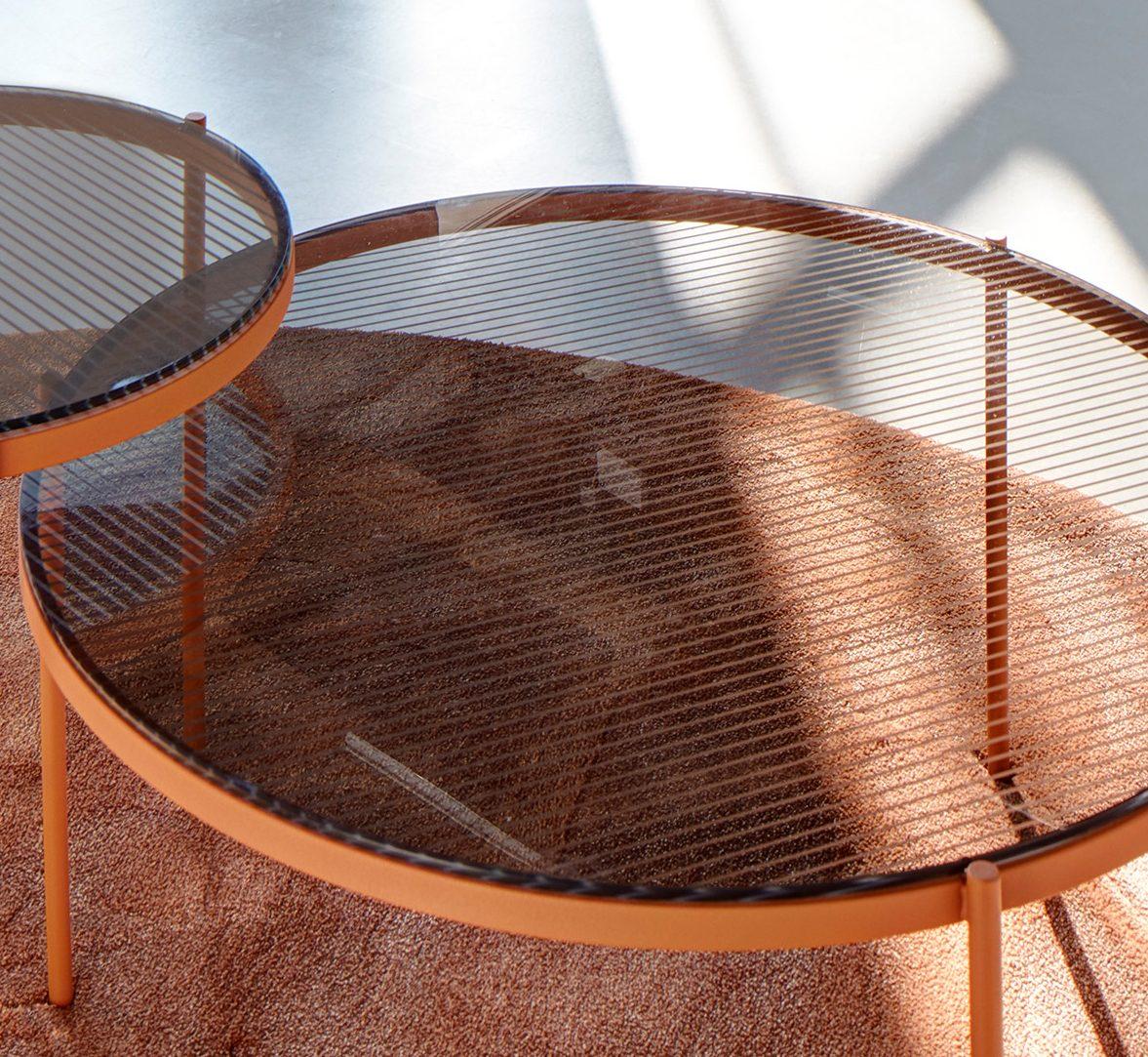 Lyn Salontafel Oranje Roest Frame Grijs Glas Detail Visser Meijwaard JOSHH& Helderr