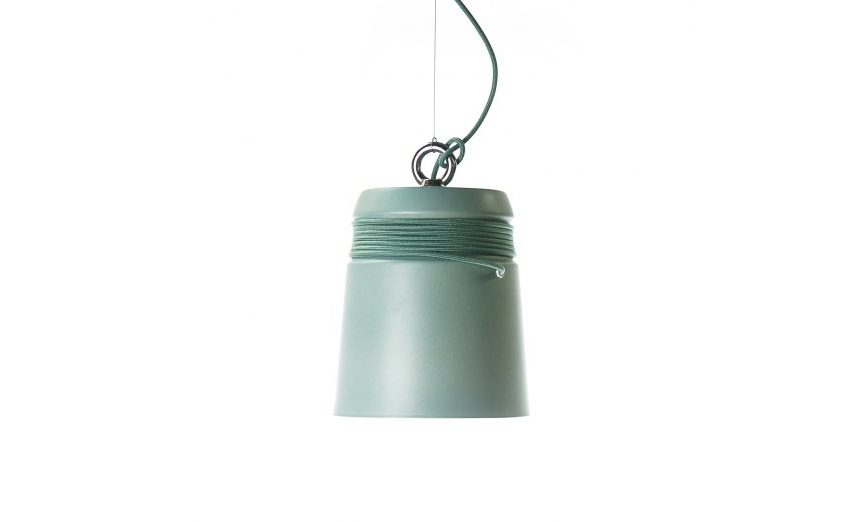 Cable light hanglamp large Sage Green