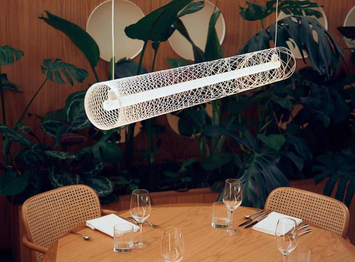 ATELIER ROBOTIQ Out Of Order Hanglamp Led Fiber Pattern Lamp White