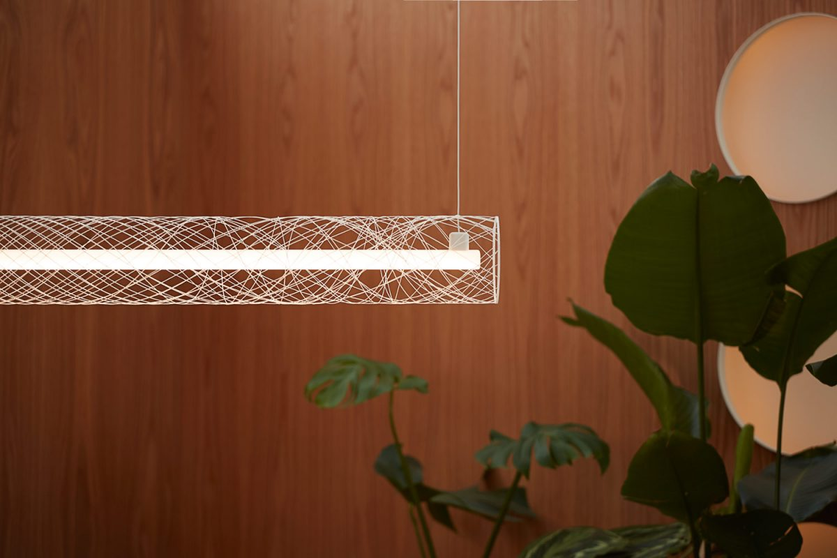 ATELIER ROBOTIQ Fiber Pattern Lamp Out Of Order Hanglamp Projectverlichting Dutch Design