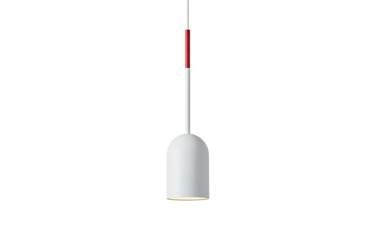 Frederik Roije Beaming Bobber Hanglamp Pencil Wit Tip Rood