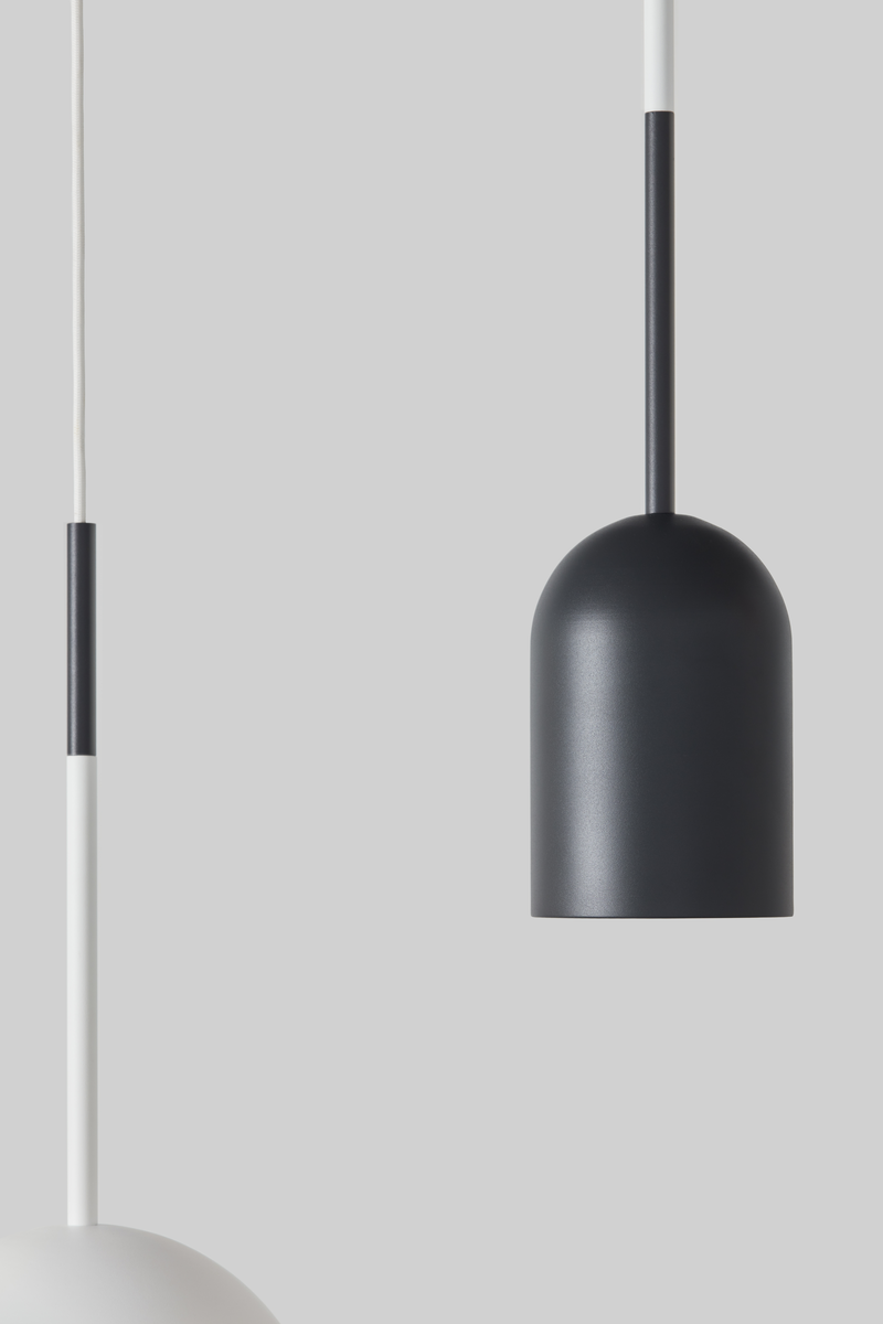 Frederik Roije Beaming Bobber Pendant Pencil Dark Grey Project Lighting