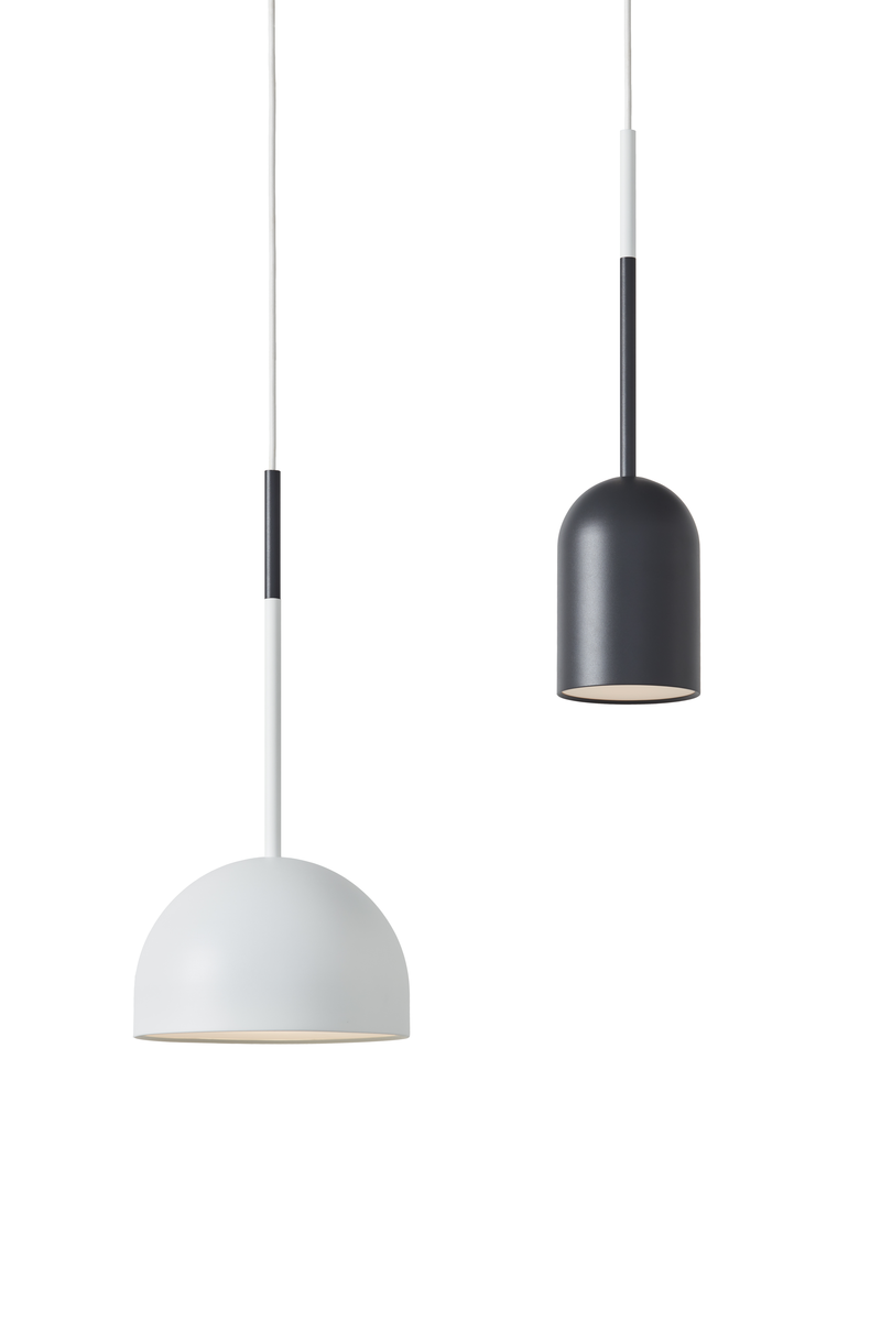 Frederik Roije Beaming Bobber Rond Hanglamp Wit BB 10.02 BB 20.01 Pencil Hanglamp Donkergrijs Project