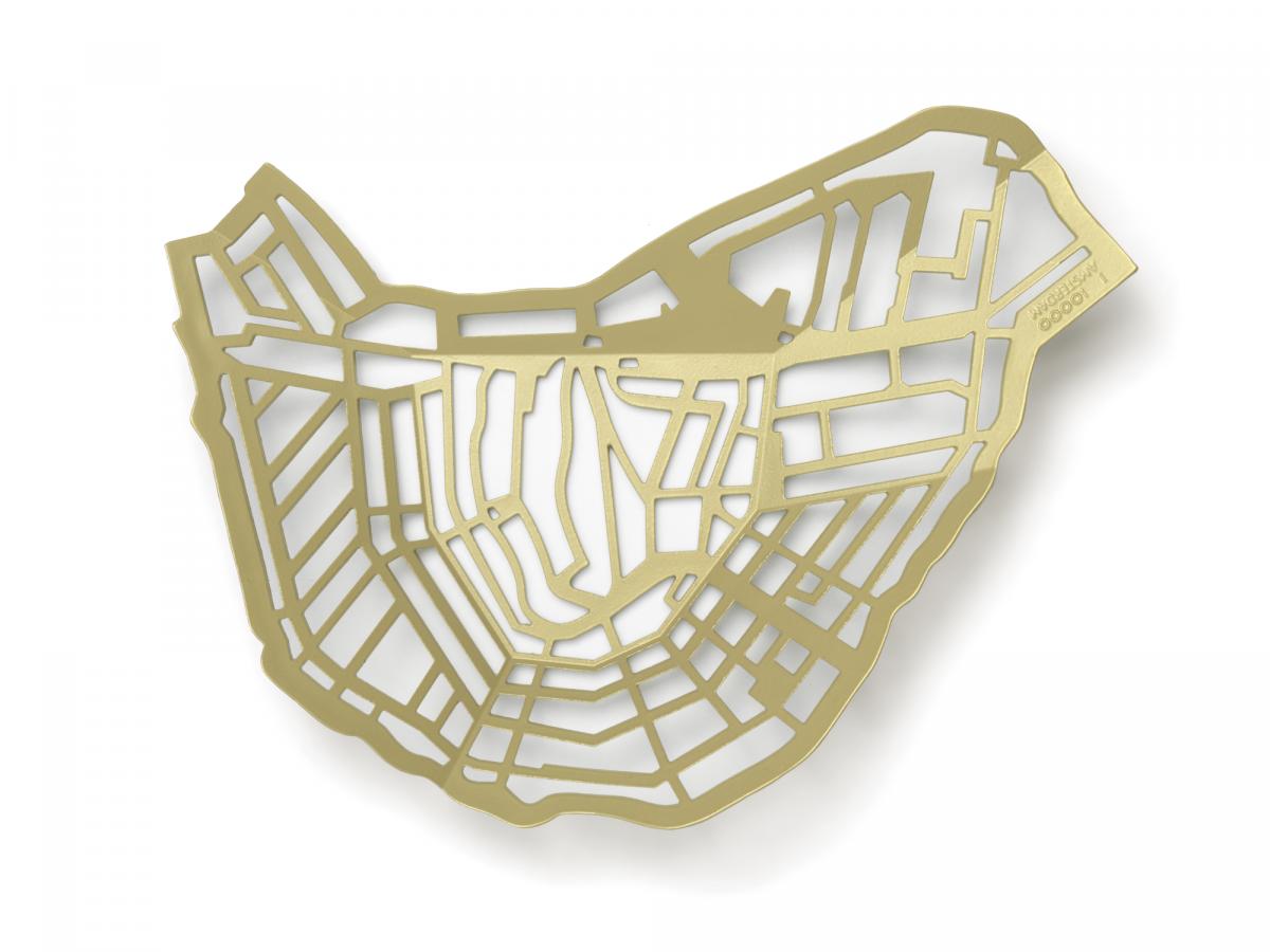 Frederik Roije METROBOWL AMSTERDAM Goud Gold Dutch Design Cadeau MB90.03