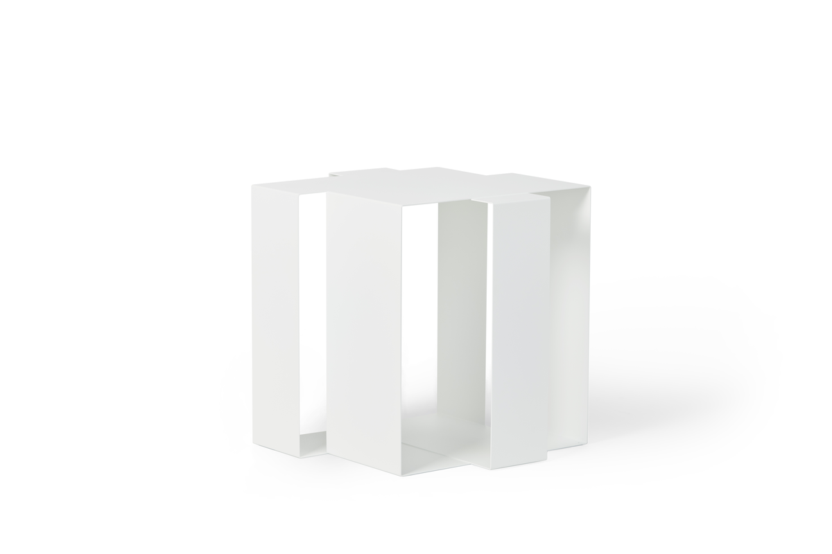Frederik Roije Side Table White Shifted SQuare Bijzettafel Wit Project Tafel