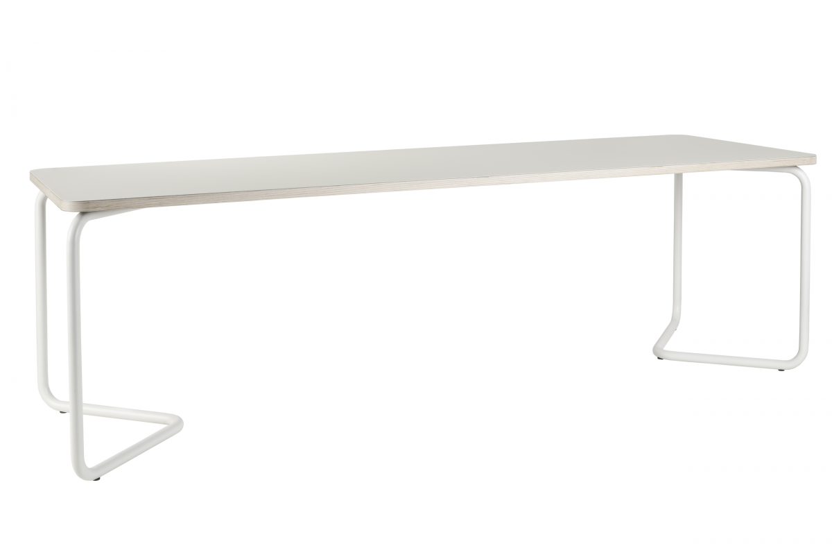 Functionals Kumpel Tafel Table 240×80 Mushroom White Poten Wit Tafelblad Gebroken Wit