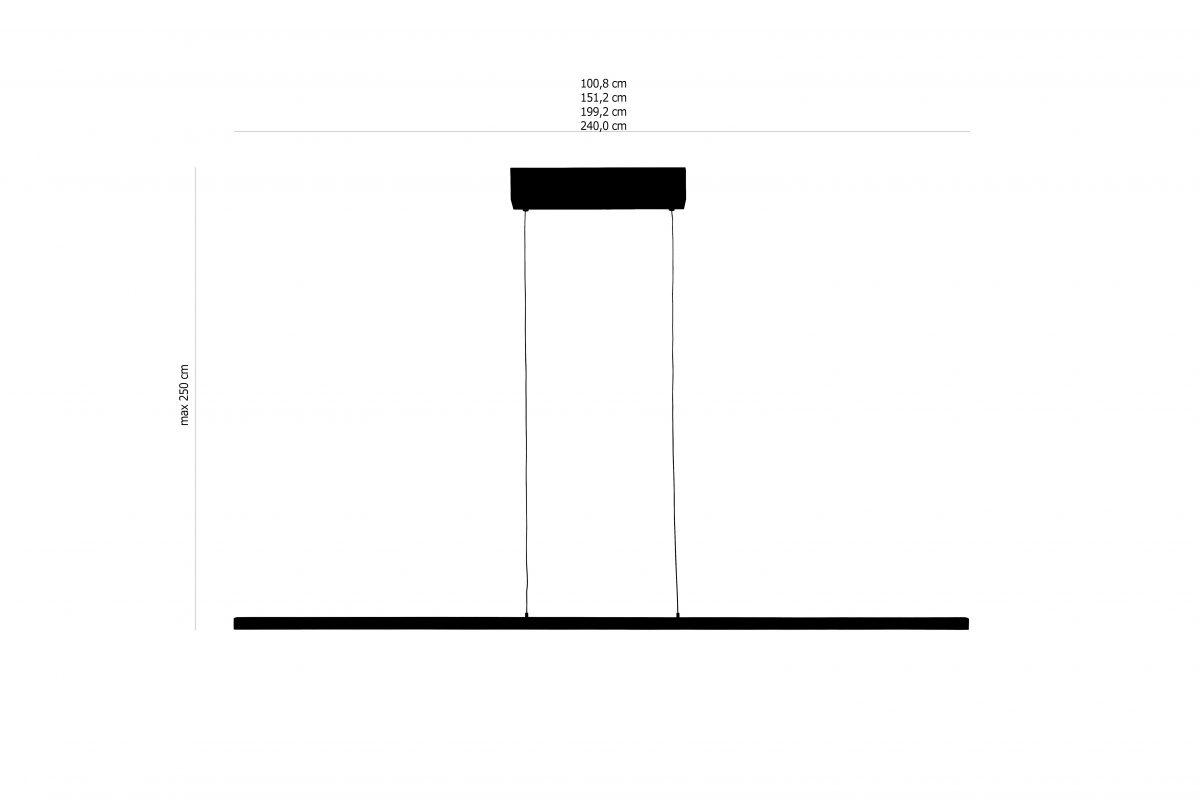 24mm Up&down Hanglamp Maten Wenge Arend Groosman
