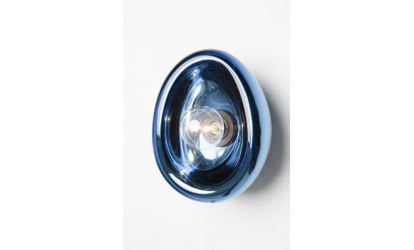 Aurum wandlamp blauw gespiegeld glas