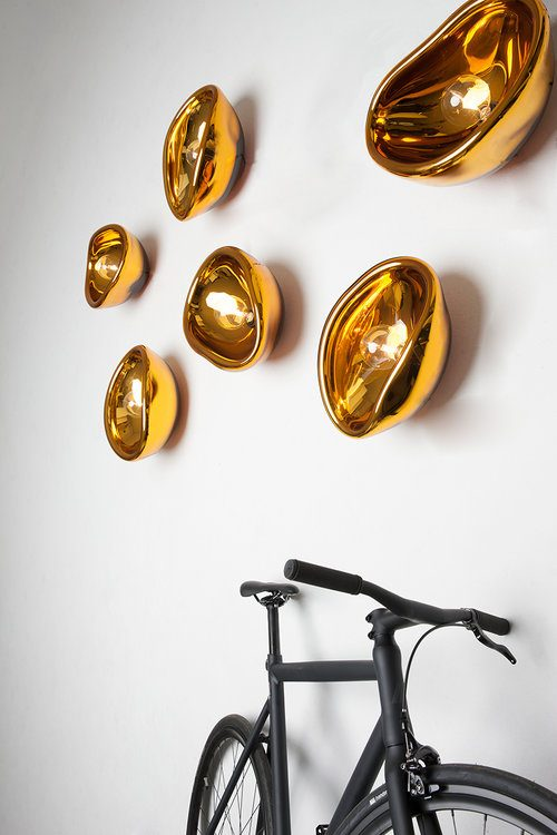Aurum Goud Alex De Witte Wandlamp Gold Exclusief Dutch Design Verlichting