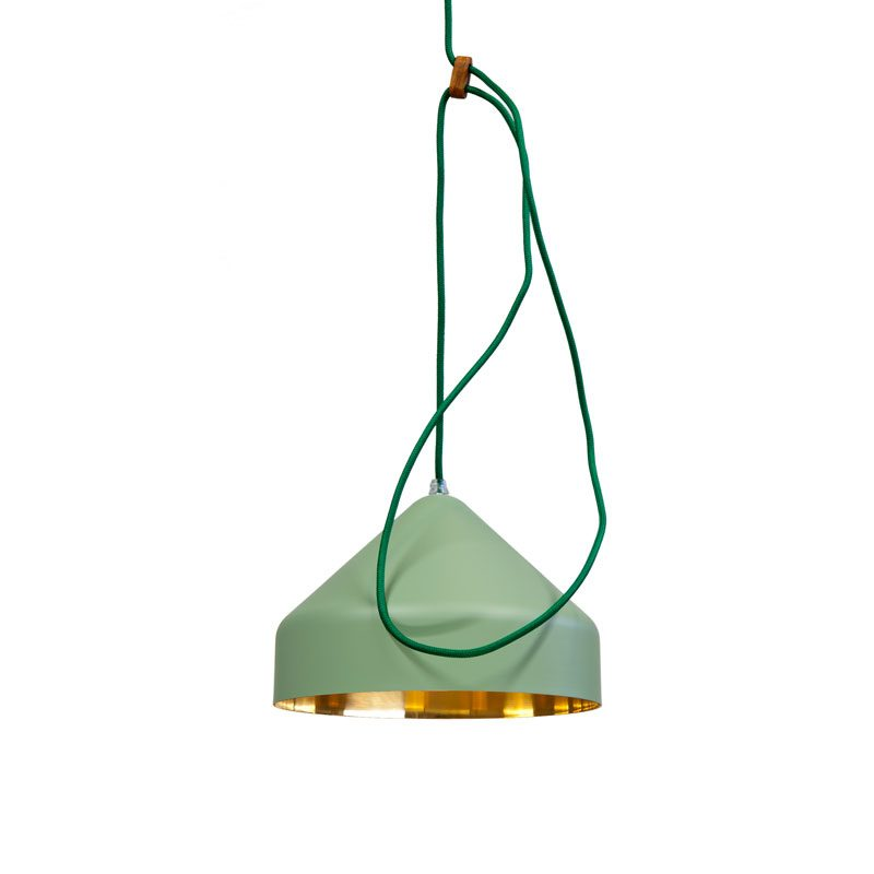 Vij5 Lloop Lamp Brass Green Projectverlichting