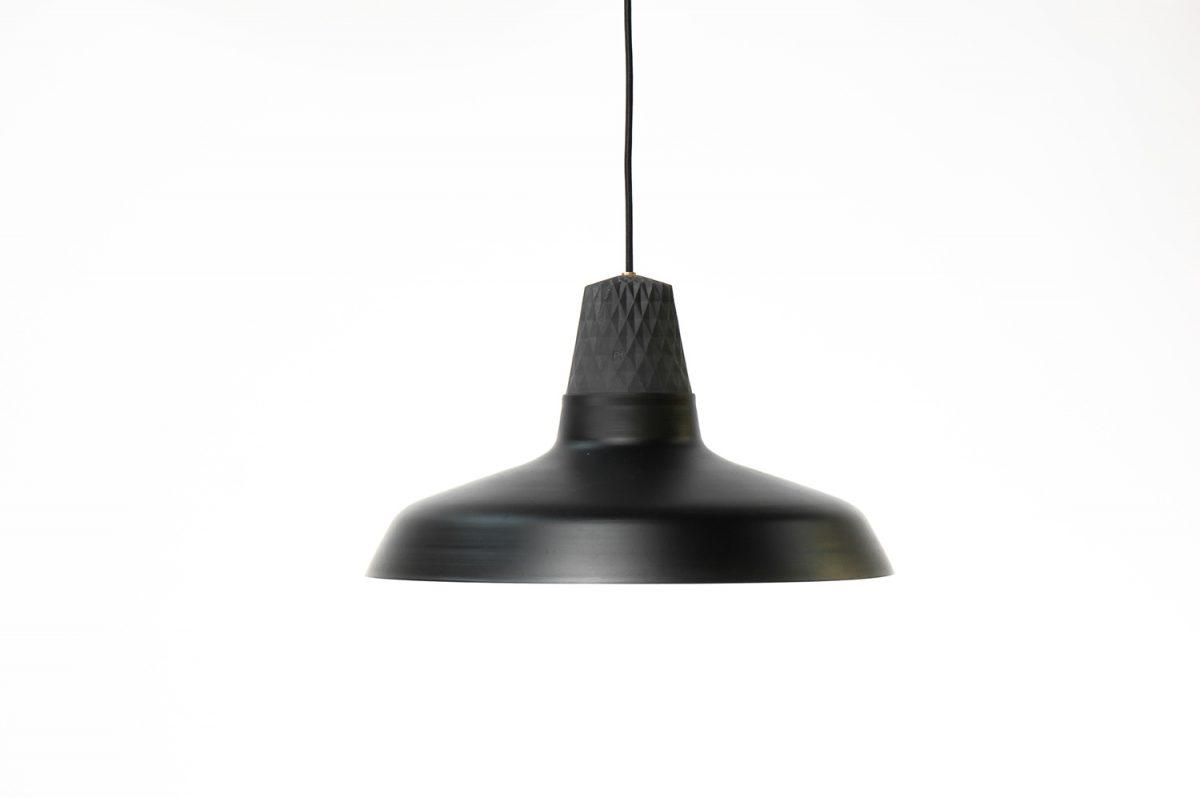 Patrick Hartog Lozenge Shade Black Large Hanglamp Zwart Porselein