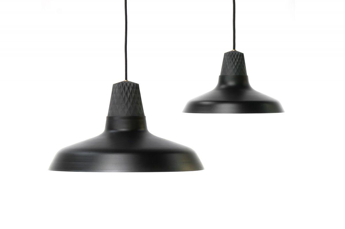 Patrick Hartog Lozenge Shades Lamp Large En Small Black Zwart Dutchdesign Verlichting Project