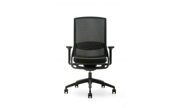Gispen Zinn Smart bureaustoel zwart voetkruis