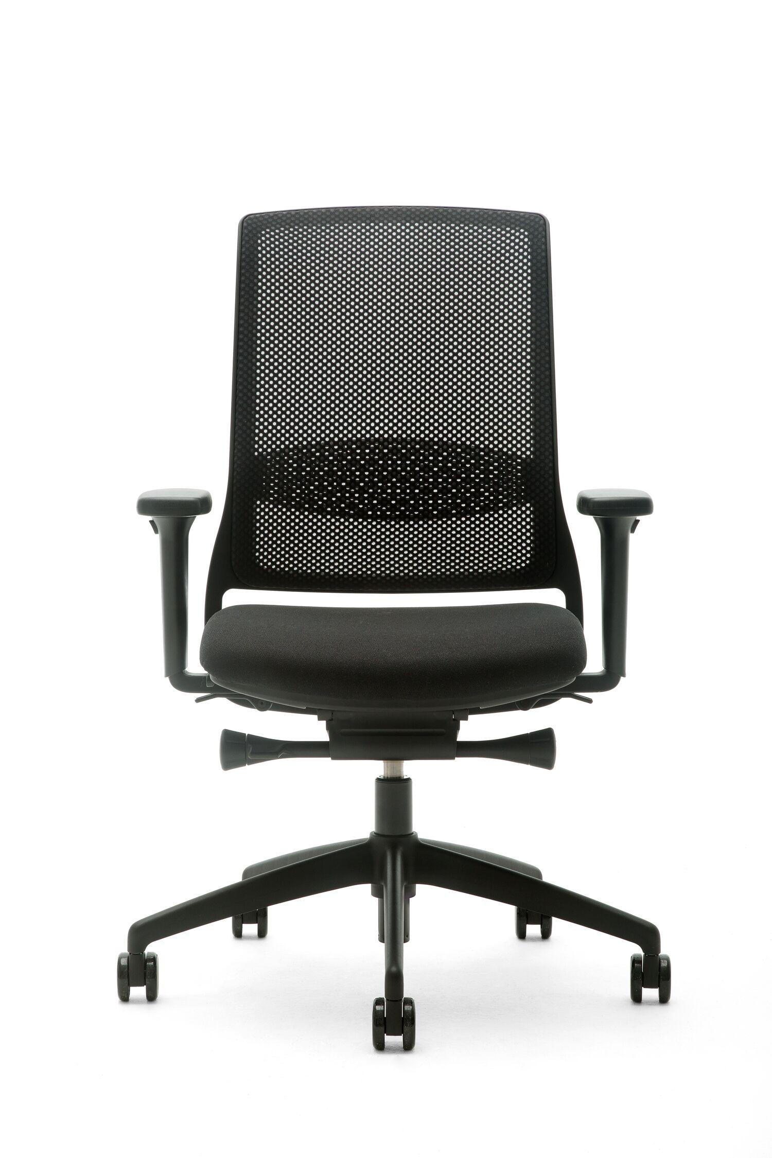 Bureaustoel Zwart Design.Gispen Zinn Smart Bureaustoel Zwart Voetkruis Kopen Bestel Bij