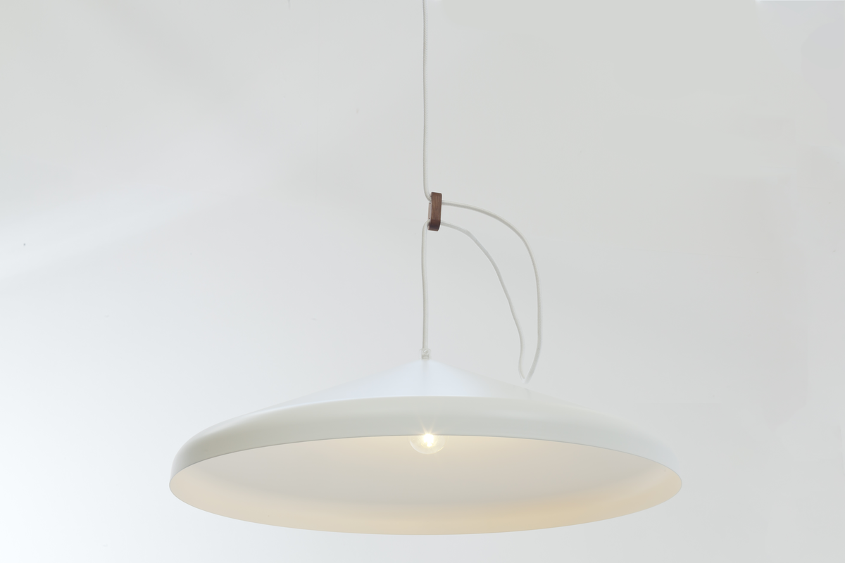 Vij5 Lloop XL Uni White RAL9016 Setting With Light Dutch Design Projectverlichting