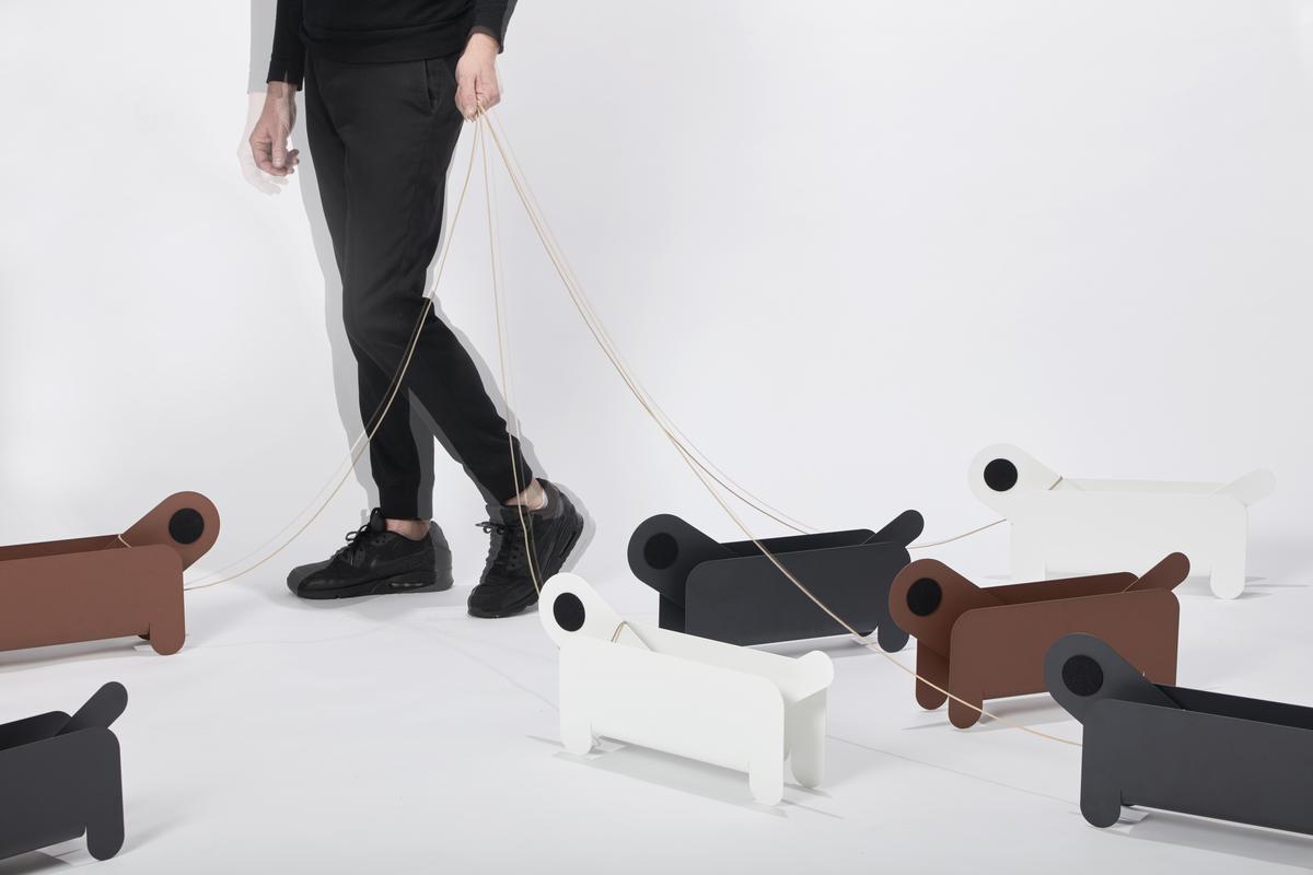 Frederik Roije Paper Pet Tijdschrifthouder Magazine Holder Humor Hond Wandelen