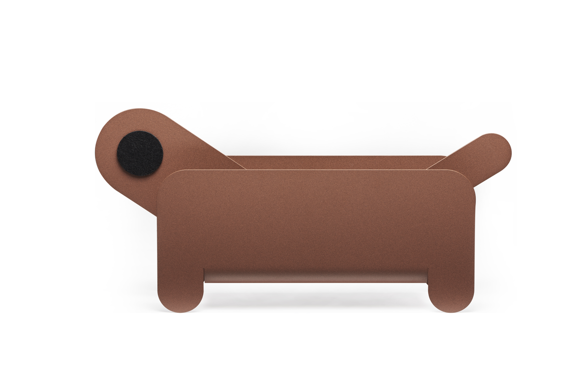 Frederik Roije Paper Pet Tijdschrifthouder Hond Brick Brown Dog Magazine Holder Design Humor