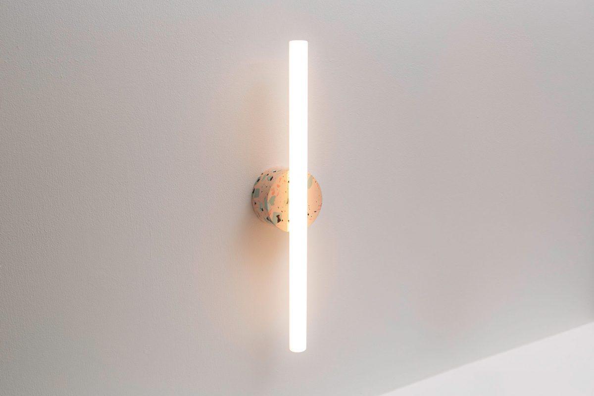 Recast Wandlamp Projectverlichting Roze Composiet Tl Design