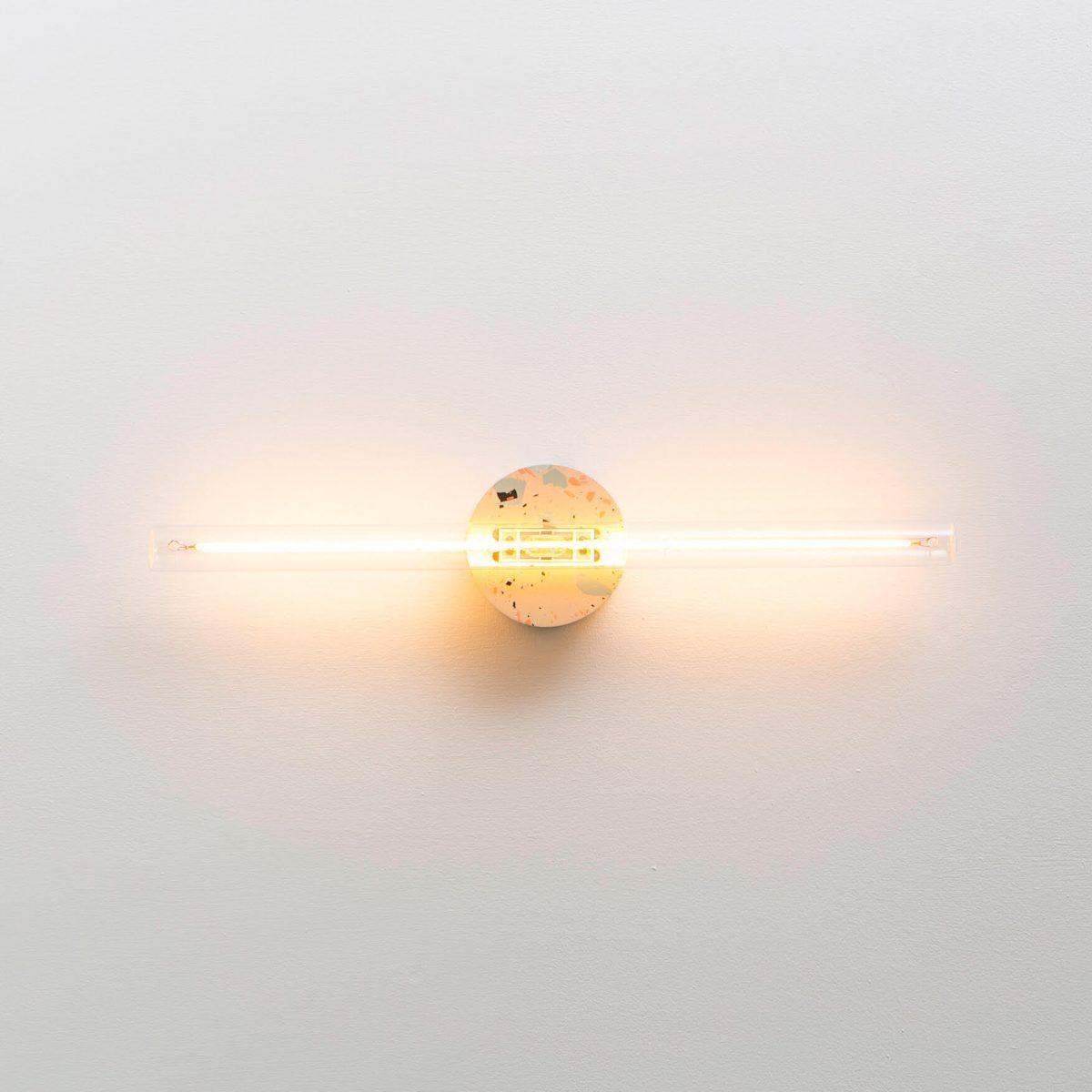 Recast Roze Wandlamp Transparant Glas Led 2200k Extra Warm Wit