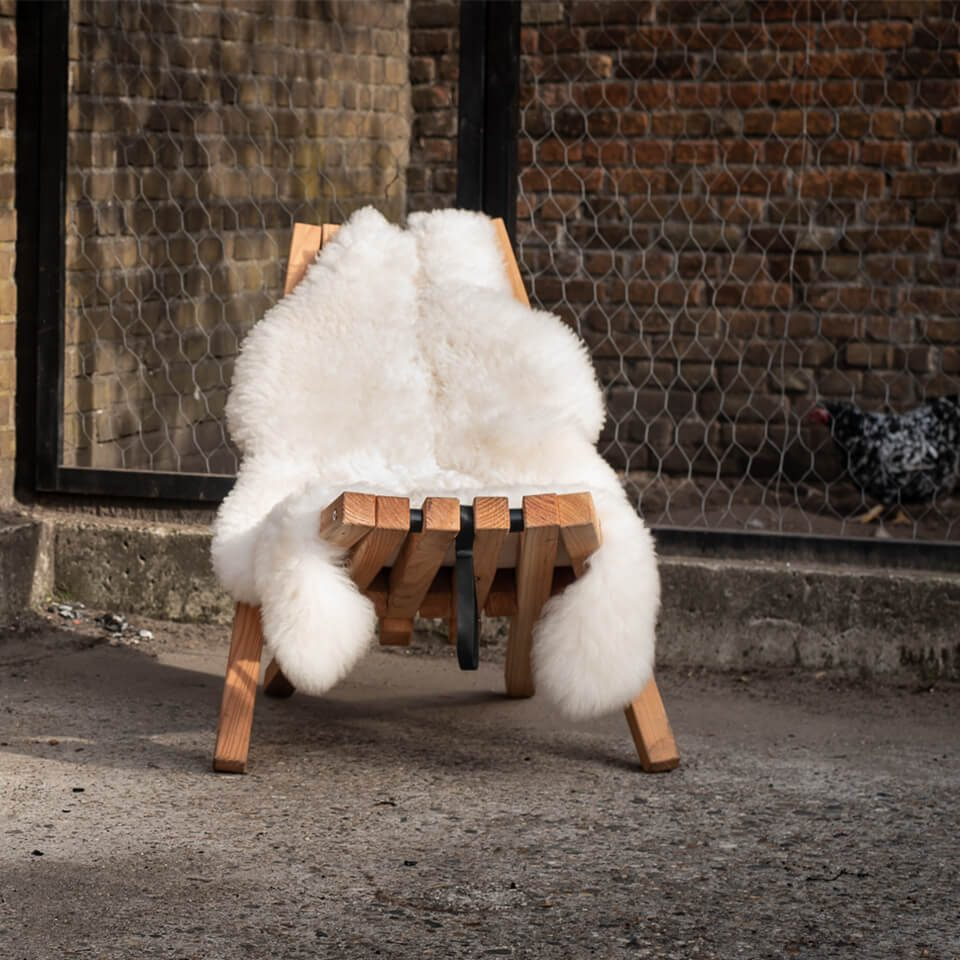 Sheepscoat White On Fieldchair