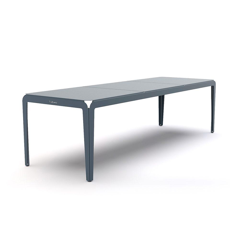 Weltevree Bended Table 270 Greyblue Buiten Tafel Tuin Grijsblauw Aluminium