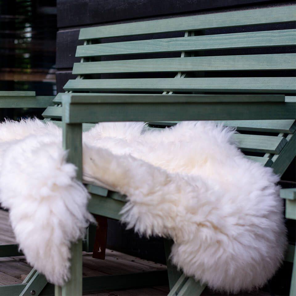 Weltevree Sheepskin White On Patio Green