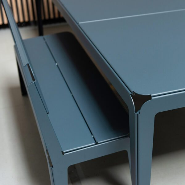 Weltevree Bended Bench With Backrest Seating Tafel Grijs